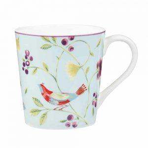 Aqua Singing Bird Mug