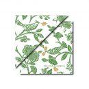 Christmas Bird Napkin Green