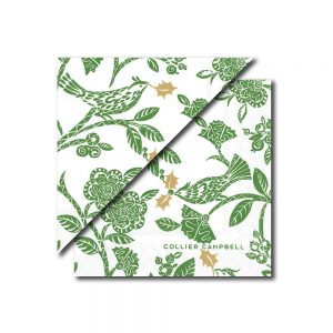 Christmas Bird Napkin Green