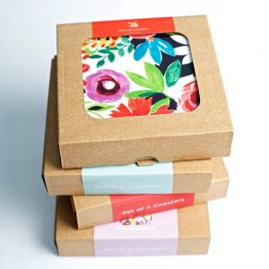 Flower Patch Coaster Set