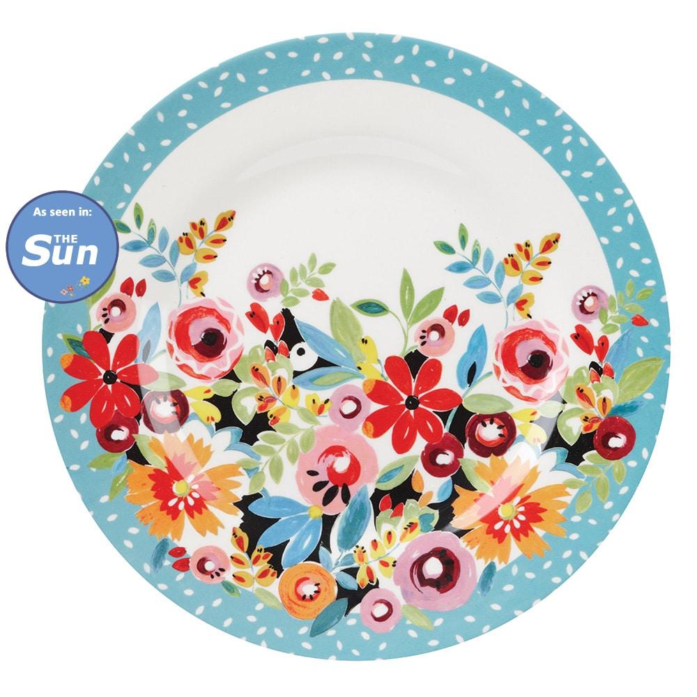 flowerdrop melamine items - Melamine Dinner Plates