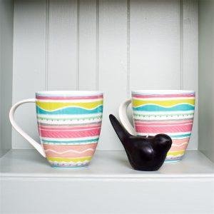 Riviera Stripe Mugs
