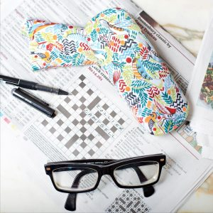 Tropical Birds Glasses Case View