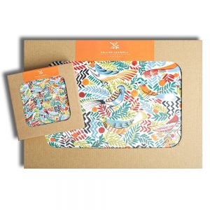 Tropical Birds Placemats Coasters