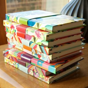 Address Book pile Grandiflora Turq top