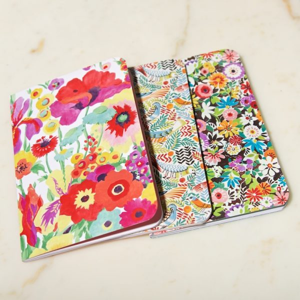 Floral mix exercise books set