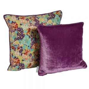 CC E Forest & Purple cushion
