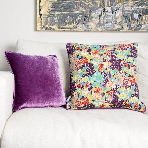 E Forest & Purple cushions