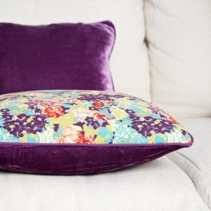 E Forest  showing back & Purple cushion