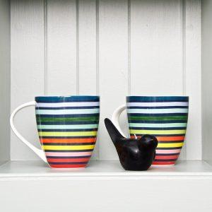 Floresta Stripe mug x 2 LS