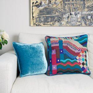 G Jewel & Turq cushions