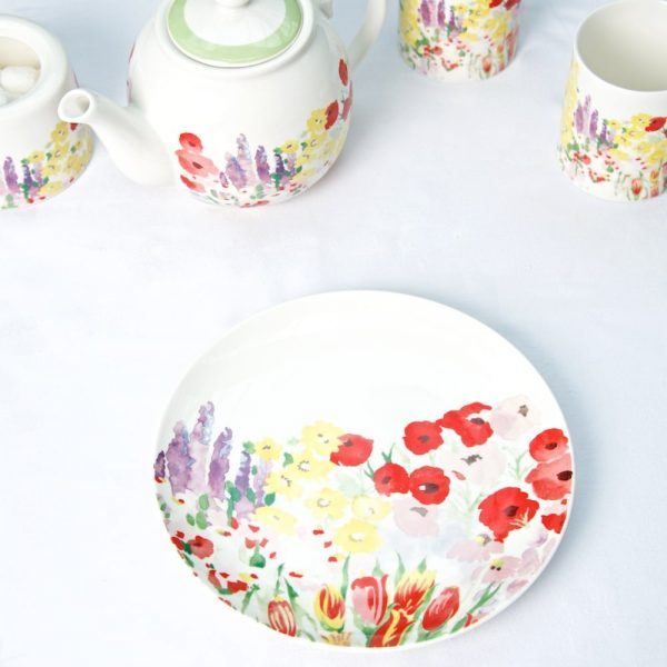 P Garden Tea Plate overhead