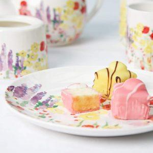 P Garden Tea Plate plus cake LS