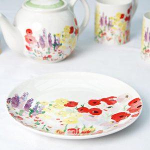 P Garden Tea plate side view