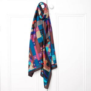 G Jewel Silk Scarf LS Main