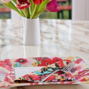 S Garden D Plate & napkin LS