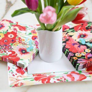 S Garden Napkins I & B & Tulips LS