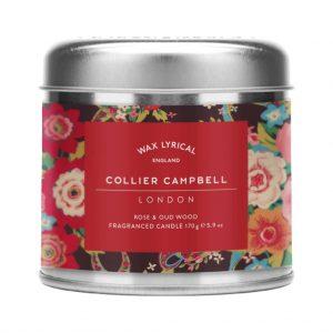 P Rose Candle Tin