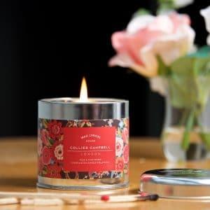 Pushkin Rose candle Tin 2 LS