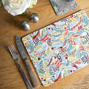 F Patch Place Mat & Coaster above LS