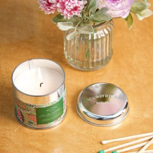 Tumbling Leaves candle tin LS overhead